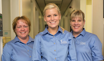 dental team at Fixari Family Dental smiling