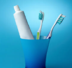 Toothbrush and toothpaste